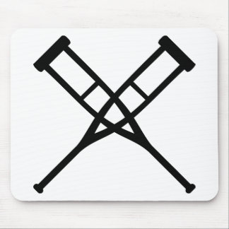 crutches crossed mouse pad