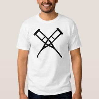 crutches crossed tee shirt