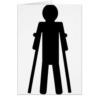 crutches man card