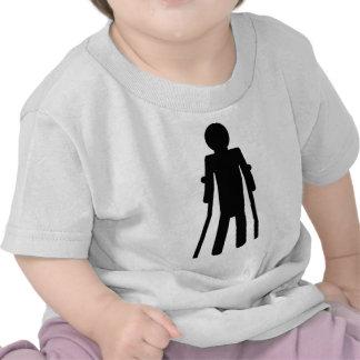 crutches man t-shirt