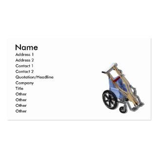 CrutchesWheelchair081210, nombre, dirección 1, Tarjetas De Visita