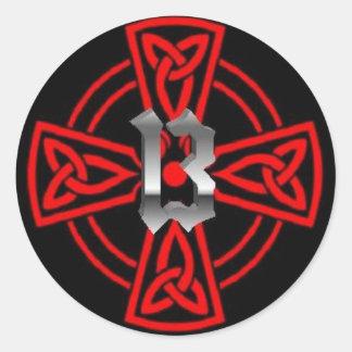 Cruz 13 del Cathar Pegatina Redonda