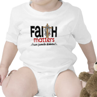 Cruz 1 de las materias de la fe de la diabetes juv camiseta