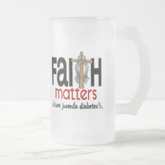 Cruz 1 de las materias de la fe de la diabetes juv taza de café