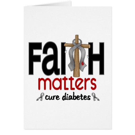 Cruz 1 de las materias de la fe de la diabetes felicitaciones