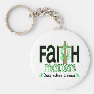 Cruz 1 de las materias de la fe de la enfermedad c llavero redondo tipo pin