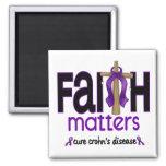 Cruz 1 de las materias de la fe de la enfermedad d imán de frigorífico
