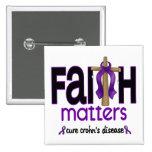 Cruz 1 de las materias de la fe de la enfermedad d pin