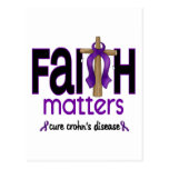 Cruz 1 de las materias de la fe de la enfermedad d postal
