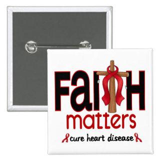 Cruz 1 de las materias de la fe de la enfermedad pin cuadrado