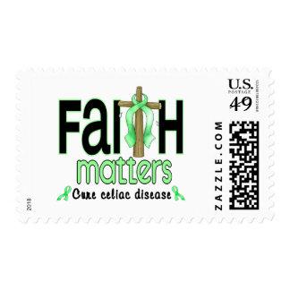Cruz 1 de las materias de la fe de la enfermedad sellos