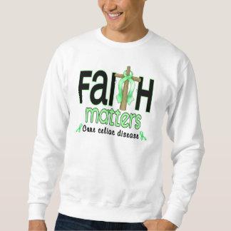 Cruz 1 de las materias de la fe de la enfermedad suéter