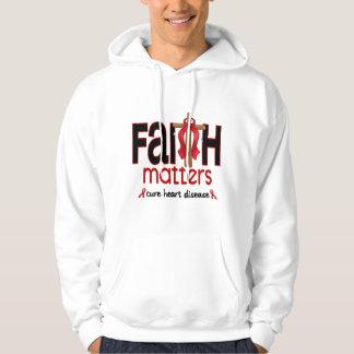 Cruz 1 de las materias de la fe de la enfermedad suéter con capucha