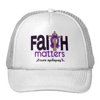 Cruz 1 de las materias de la fe de la epilepsia gorra