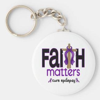 Cruz 1 de las materias de la fe de la epilepsia llavero redondo tipo pin
