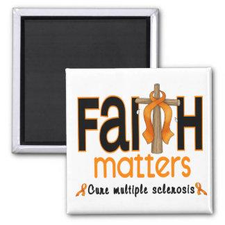 Cruz 1 de las materias de la fe de la esclerosis m imán de nevera
