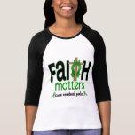 Cruz 1 de las materias de la fe de la parálisis ce camiseta