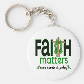 Cruz 1 de las materias de la fe de la parálisis llavero redondo tipo pin