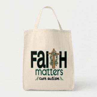 Cruz 1 de las materias de la fe del autismo bolsas