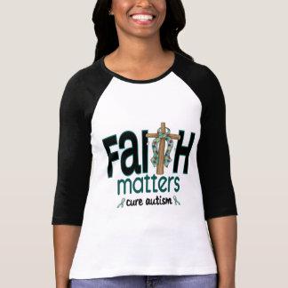 Cruz 1 de las materias de la fe del autismo camisetas