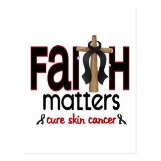 Cruz 1 de las materias de la fe del cáncer de piel tarjetas postales