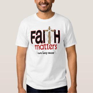 Cruz 1 de las materias de la fe del cáncer de remera