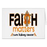Cruz 1 de las materias de la fe del cáncer del riñ tarjetón