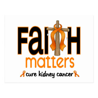 Cruz 1 de las materias de la fe del cáncer del riñ tarjetas postales