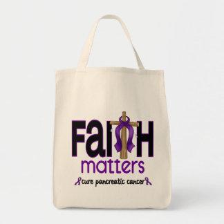 Cruz 1 de las materias de la fe del cáncer pancreá bolsa de mano