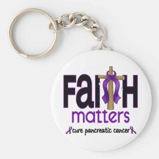 Cruz 1 de las materias de la fe del cáncer pancreá llavero redondo tipo pin