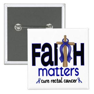 Cruz 1 de las materias de la fe del cáncer rectal pin