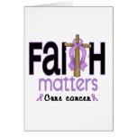 Cruz 1 de las materias de la fe del cáncer felicitación