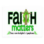 Cruz 1 de las materias de la fe del linfoma de Non Tarjetas Postales