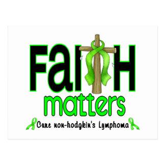 Cruz 1 de las materias de la fe del linfoma de postal