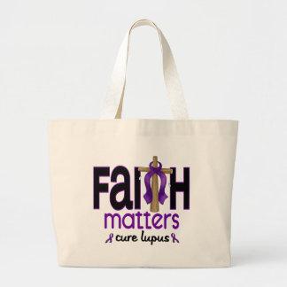 Cruz 1 de las materias de la fe del lupus bolsa tela grande