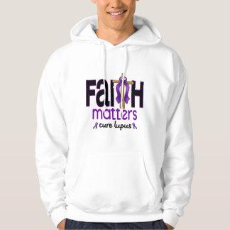 Cruz 1 de las materias de la fe del lupus jersey con capucha