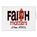 Cruz 1 de las materias de la fe del SIDA Felicitacion
