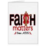 Cruz 1 de las materias de la fe del SIDA Tarjetas
