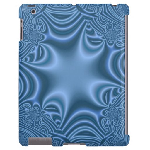 Cruz abstracta azul