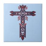 Cruz adornada cristiana 23 azulejo cerámica