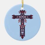 Cruz adornada cristiana 23 ornamento para arbol de navidad