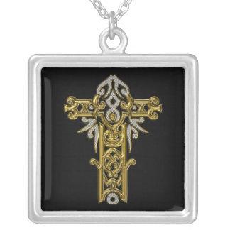 Cruz adornada cristiana 24 colgante