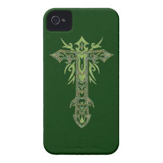 Cruz adornada cristiana 28 Case-Mate iPhone 4 carcasas