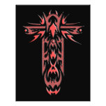 Cruz adornada cristiana 2 folleto 21,6 x 28 cm