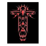 Cruz adornada cristiana 2 postal
