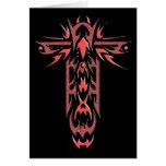 Cruz adornada cristiana 2 tarjeta pequeña