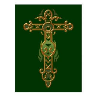 Cruz adornada cristiana 31 postal