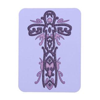 Cruz adornada cristiana 32 imán flexible