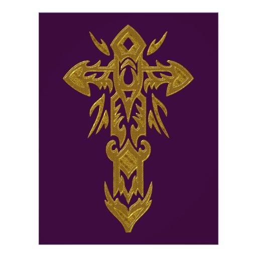 Cruz adornada cristiana 39 tarjetones