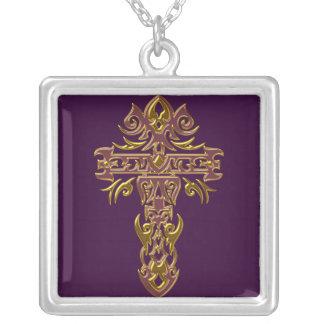 Cruz adornada cristiana 48 collar